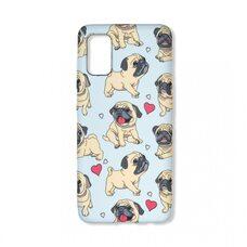 Чехол для Samsung Galaxy A41. Luxo. Animals. Мопс на голубом фоне. L12