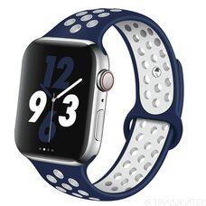 Ремешок для Apple Watch 42/44mm NiKE (упак. картон) темно-синий-белый