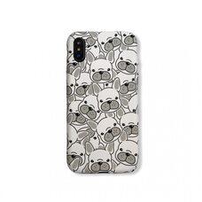 Чехол-накладка для Apple iPhone X/Xs. Luxo. Animals. Белый французский бульдог. J29