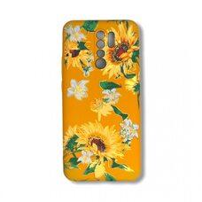 Чехол для Xiaomi Redmi 9. Luxo. Flowers. Подсолнухи. J6