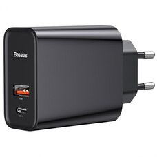Сетевое зарядное устройство Baseus Speed PPS Quick charger C+U 30W EU CCFS-C01 Black