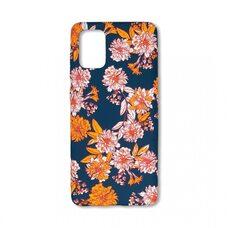 Чехол для Samsung Galaxy A71. Luxo. Flowers. Георгины на синем фоне