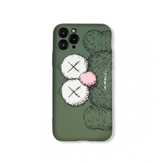 Детский силиконовый чехол-накладка для Apple iPhone 11 Pro. New Luxo. Brand. Kaws. X (Тёмно-зелёный). KS-25