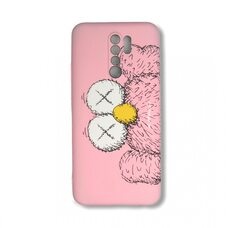 Чехол для Xiaomi Redmi 9. Luxo. Brand. Kaws. X (Розовый)
