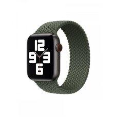 Ремешок для Apple Watch 42/44mm (M). Плетеный монобраслет. (Зеленые холмы)