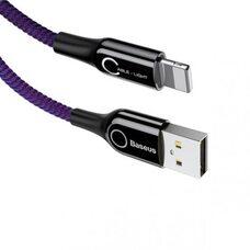 USB Дата-кабель Lighting для зарядки и синхронизации iPhone/iPad BASEUS C-SHAPED CALCD-05 (фиолет)