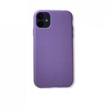 """Силиконовый чехол бампер для Apple iPhone 11 6.1""""(2019) с перфорацией (силикон) фиолетовый"""