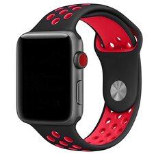 Ремешок для Apple Watch 38/40mm NiKE (упак. картон) черно-красный