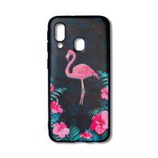 Чехол для Samsung Galaxy A40. (Flamingo)