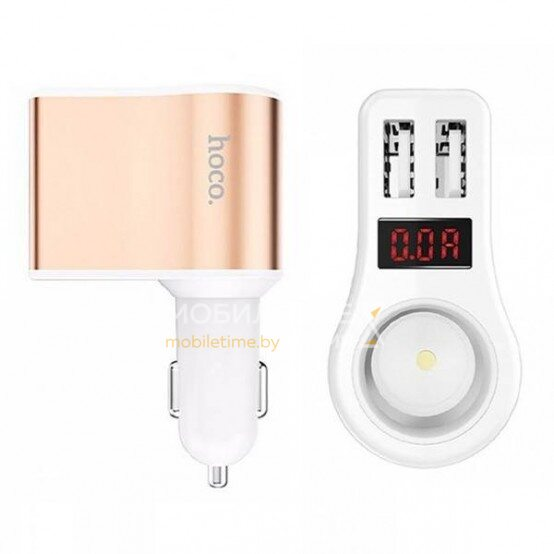 Автомобильное зарядное устройство HOCO Z10 (белый)