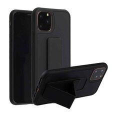 Чехол-подставка для iPhone XR с магнитом черный гелевый