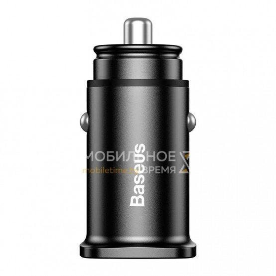 Автомобильное зарядное устройство BASEUS SQUARE METAL A+A 30W Dual QC3.0 CCALL-DS01 (черный)