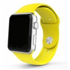 Ремешок для Apple Watch 42/44mm SPORT (упак. картон) №04 желтый