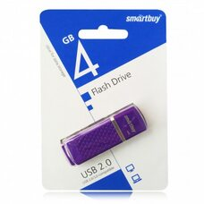 USB флеш-накопитель Smartbuy 4GB Quartz series (фиолетовый)