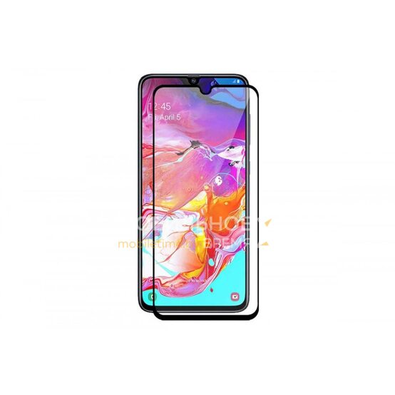Защитное стекло для Samsung Galaxy A70/A70s. (Чёрный)