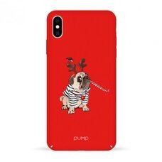 Матовый чехол-накладка для iPhone XS Max Pump Tender Touch Case Christmas Dog