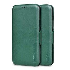 Чехол-книга для Apple iPhone 11 Pro Puloka (зеленый) с защитой камеры, экрана и внешнего динамика