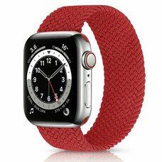 Ремешок для Apple Watch 42/44mm (M). Плетеный монобраслет. (Красный)