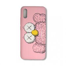 Чехол для Xiaomi Redmi 9A. Luxo. Brand. Kaws. X (Розовый). KS-25