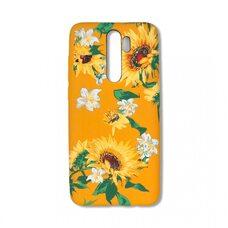 Силиконовый чехол для Xiaomi Redmi Note 8 Pro. Luxo. Flowers. Подсолнухи. J6