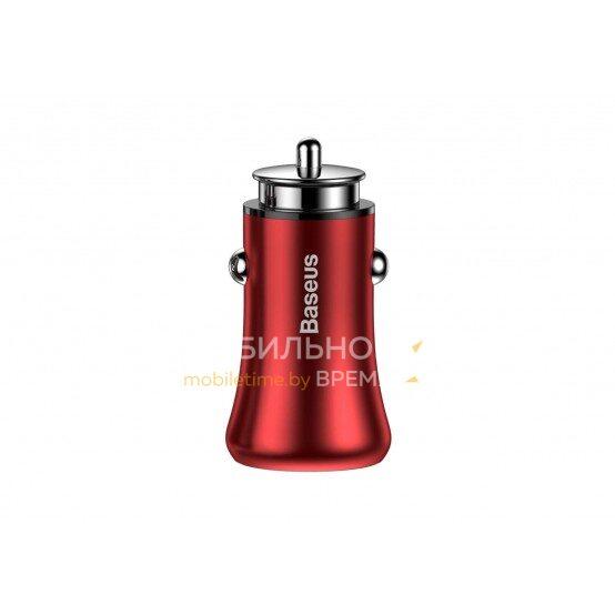 Автомобильное зарядное устройство BASEUS GENTLEMANN Series 4.8A GB09 (красный)