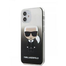 Чехол-накладка для iPhone 12 mini (5.4) Lagerfeld PC/TPU Ikonik Karl Hard Gradient Black