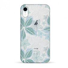 Чехол-накладка для iPhone XR Pump Transparency Case Blue Flowers