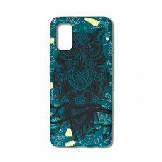 Чехол для Samsung Galaxy A41. Luxo. Animals. Сова на зеленом фоне. L55