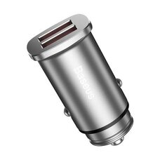 Автомобильное зарядное устройство BASEUS SQUARE METAL A+A 30W Dual QC3.0 CCALL-DS0S (серебристый)