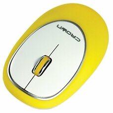 Силиконовая беспроводная мышь CROWN CMM-931W (yellow)