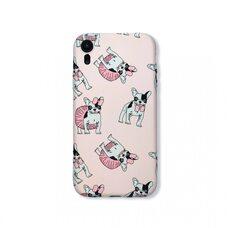 Детский противоударный чехол-накладка бампер для Apple iPhone XR. Luxo. Animals. Французский бульдог с бантом. №1