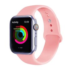 Ремешок для Apple Watch 42/44mm SPORT (упак. картон) №06 светло-розовый