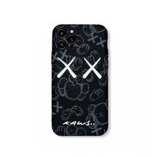 Силиконовый чехол-накладка для Apple iPhone 11 Pro. Luxo New. Brand. Kaws. X. Жесты. (Чёрный ). KS-23