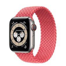 Ремешок для Apple Watch 42/44mm (M). Плетеный монобраслет. (Розовый пунш)