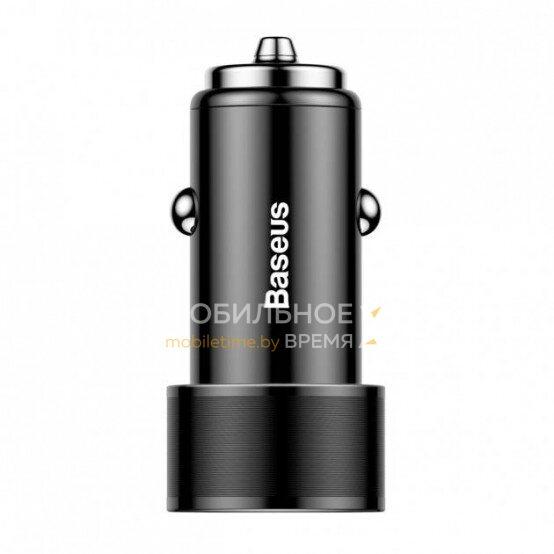Автомобильное зарядное устройство BASEUS SMALL SCREW QC 3.0 36W DUAL-USB CAXLD-B01 (черный)