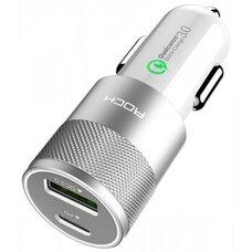 Автомобильное зарядное устройство ROCK H5 PD Fast charger (белый)