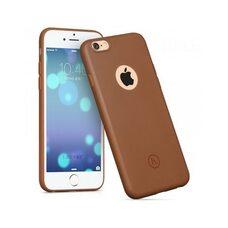 Силиконовый чехол-накладка бампер для iPhone 6 HOCO JUICE series (коричневый) матовый