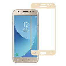 Защитное стекло для Samsung J3 (2017) Full Glue (Gold)